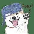 ほのぼのわんこたちのスタンプ3(柴犬編)