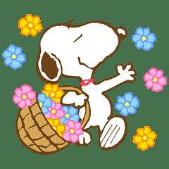 史努比的春季動態貼圖