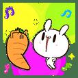 กระต่ายขี้เล่นกับแครอทคู่ใจป๊อปอัพ