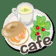 cafe design sticker