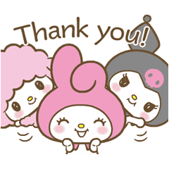 My Melody Sweet As Can Be 2 Line Sticker Line Store