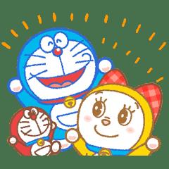 哆啦A夢&哆啦美 動態貼圖