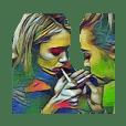 Mix smoking girls