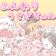 rabbit stickers kanarico