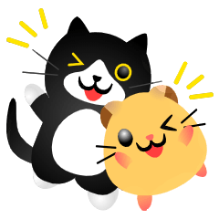 Cat and hamster stickers