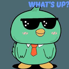 Little green bird : Animated