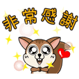 Touch Touch Squirrel-Animated stickers
