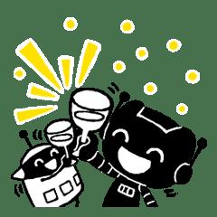 機器人黑黑與白白登場!