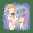 旅女子と猫、台湾満喫ニャン。