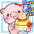 Enjoy the summer, cute micro pig!