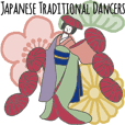 Japanese Traditional Dancers in English