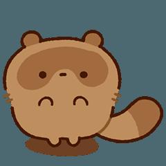 Puffy raccoon dog