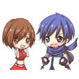 KAITOとMEIKOのなかよしスタンプ2