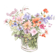 gentle colored flowers 2