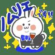 Winelover rabbit Sticker