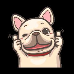 สติ๊กเกอร์ไลน์ French Bulldog PIGU: Movin' Together 2