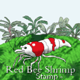 Red Bee Shrimp Sticker