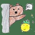 Bear and pineapple