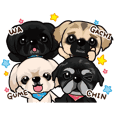 Pekingese + alpha sticker