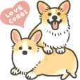 1 corgi sticker PLUS2 -English-