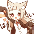 NEKOMIMI girl reaction sticker