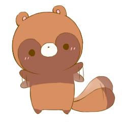 Cute Japanese Raccoon Mascot Pon-chan