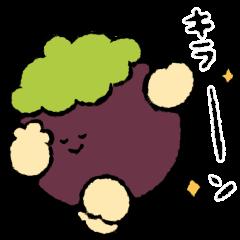 สติ๊กเกอร์ไลน์ vegetables and fruits -animation2-