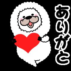 smiling alpaca mini