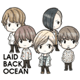 LAID BACK OCEAN SECOND Sticker!!