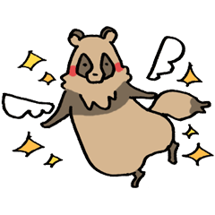 happy raccoon dog sticker 4