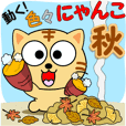 "It move! Various cats ""Autumn"""