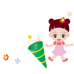 Cute girl Animated Sticker Collection