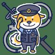 Shiba Inu police officer
