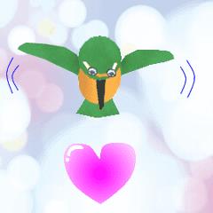 A bird sticker on Moving