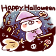 Cat and rabbit in Halloween