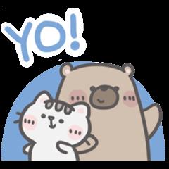 สติ๊กเกอร์ไลน์ Mr. Bear and His Cutie Cat: In the Mood