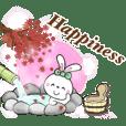 Hot spring & ribbon rabbit autumn