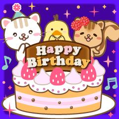 Natural design celebration birthday jpn