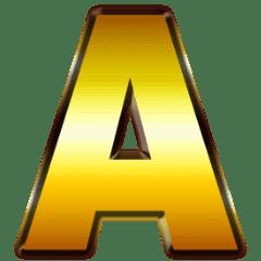 黄金アルファベット 動く金の豪華スタンプ