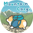 Mountain corgi sticker