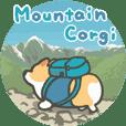 Mountain corgi sticker