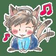 Tsundere cat ear boy