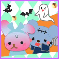 うさぎとくまの日々(ハロウィン3)