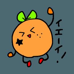 Orange cute girl