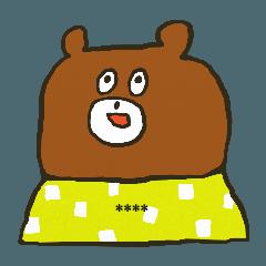 Custom Sticker of the Fashionable Bear