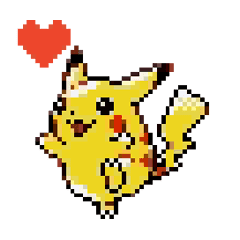 Pokémon Pixel Art Gold Silver Edition Line Stickers Line