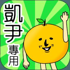 【凱尹】專用 名字貼圖 橘子