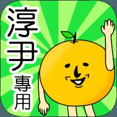 【淳尹】專用 名字貼圖 橘子