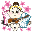 Hawaiian ver. smile girl ukulele