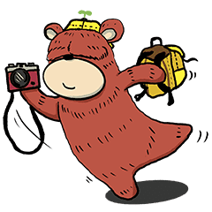 Big Red Store >> Big Red Bear 2 Line Stickers Line Store